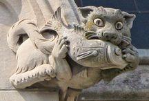 Relieff - Figurer - Stein - Leire - Gargoyle - Grotesque - Katedral