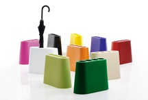 """AKI, the minimalist umbrella stand / In rotomoulded polyethylene, perfect for indoor and outdoor, a design of Rodolfo Bonetto, 1975. AKI means """"autumn"""" in Japanese."""