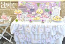 A&K Lolly Buffet {Vintage Pastel Baby Shower Dessert Buffet}
