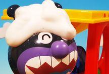 アンパンマンおもちゃアニメ❤バイキンマンの水遊び!水車と泡あわ Anpanman toys