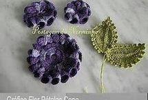 πλεκτά λουλούδια