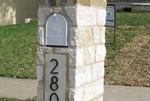 Letter box column caps