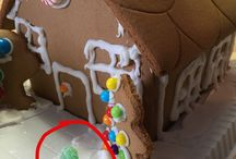 When boys decorate at Christmas time... / Christmas decor by boys.