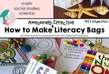 Kinder literacy bags