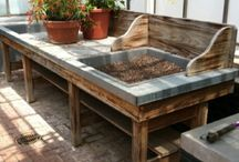 Cloches, Potting bench, Greenhouses, Saddlestone