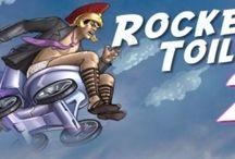 Rocket Toilet / Siete pronti a volare su un water di pietra ai tempi ovviamente della pietra? Eccovi un gioco stile Yetisport, ossia con il lancio dell'oggetto e il tentativo di farlo volare anche dopo con sprint successivi.