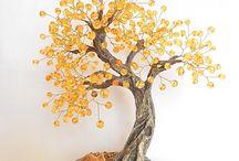 gioielli con perline: alberi e bonsai