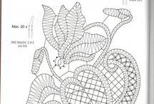 Klöppeln / Klöppeln auf verschiedene Art, Klöppelmuster
