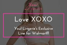 Love XOXO... Our Exclusive Collection for Walmart / You! Lingerie partnered with Walmart.com to launch an exclusive branded line of nursing and maternity bras and sleepwear called Love XOXO by You! Lingerie. / by You! Lingerie