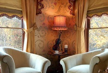 Window dressing and curtains / All sorts of window treatments for the not so conventional ho,e