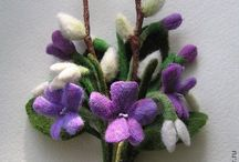 брошки цветы