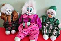 clowns / porcelain, ceramic, handmade clown doll