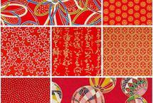 Wagara Love / Diseños y patrones japoneses. Wagara. Típicos de papeles de origami y kimonos. Japanese origami and kimono patterns.