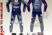 made to measure movistar yamaha maverick vinales style racing leather suit