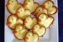 baby shower ideas. ducky pretzels made with peeps from Easter
