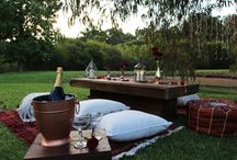 WWC Proposal Picnics / Wild Wolf Collective specialise in creating luxury romantic picnics in both Perth and the Margaret River region.    Our picnics are styled using a cosy white tipi filled with rugs, cushions,  flowers, candles, champagne on ice and a gourmet cheese platter.