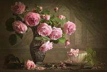 Натюрморты с цветами.