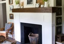 Fireplaces. Mantles.