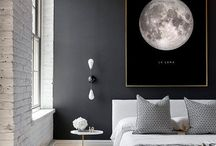 MAX / bedroom ideas for colors, style, art interest, accent wall, lighting etc.