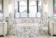 Get Inspired: Marble Bathroom & Laundry Room / Get inspired by these beautiful examples of bathrooms and laundry rooms! Fordham Marble can help you build any custom marble fixture in your home. Please visit us at www.fordhammarble.com for more information!!