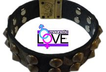 MIMETIC / Bracciale con chiusura magnetica double face salutare: Easy Energy Close by Magnetic LOVE® cinturino camouflage e nero con charms a cono. 100% Made in Italy WWW.magneticlove.it