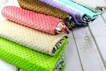 Kocyki minky / Kocyki minky z kolorową bawełną wysokiej jakości