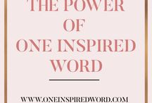 One Inspired Word 2017 / 0