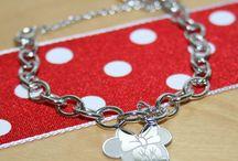 Disney Minnie Mouse Jewelry / Beautiful BeadifulBABY Disney Minnie Mouse charm bracelet for girls.