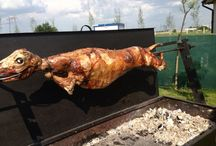 Roasted lamb & pork
