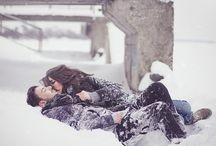 Ola i Łukasz sesja zimowa śnieg