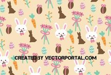 Easter free vectors / Free vector images with Easter motifs.