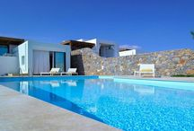 Villa Flisvos #Crete #Greece #Island / Villa Flisvos is an independent luxury property part of a complex of six stylish and spacious villas nestled graciously on a private secluded waterfront location overlooking the Mirabello Bay in the island of Crete, just 1,5 km from trendy Aghios Nikolaos summer resort. http://www.mygreek-villa.com/rent-villa-search/villa-flisvos