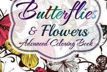 Flower and Butterfly Coloring Books
