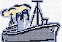 biler/skibe i perler