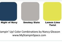 Color Combo's using Stampin' UP! colors / A collection of color combination to inspire you and help you put colors together