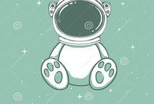 astronauta ilustraciones
