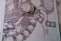 drawing / im just rileks at my work