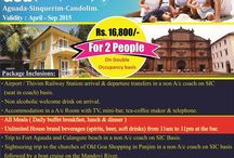 Goa Monsoon Package 2015 / Goa 3 Nights / 4 Days at just 16,800 Per Couple