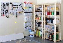 Garage Ideas / by Carrie @curlycraftymom.com