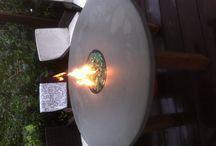 Feuertisch / Feuertisch, Gas Pit, Lagerfeuer, Tischfeuer, Tischgrill, DIY, Diy