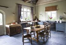 Simply stunning schoolhouse / This large kitchen in a converted schoolhouse needed an unusual approach. The owners wanted an eclectic look - using a diverse range of styles, shapes, sizes, colours and finishes.