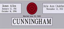 Companion Granite Headstone Designs with Vase / Granite headstones from http://www.thecasketstore.com are fully custom designed. Talented graphic designers will create exactly the marker you want.