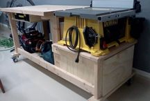 table saw/wood tool storage
