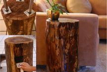 tree stump coffie table