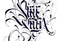 каллиграфия и шрифты