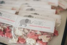 Baby Girl Shower - Pink and Gray - Elephants and Bunnies