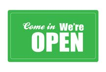 OPEN CLOSE SIGNS / Come in We are open, a Printable Open Sign for your shops, supermarkets