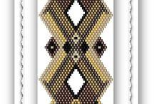 Brick stitch bracelets patterns