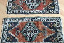 oushak small rug & door mat / vintage small rug,turkish rug,carpet,antique rug