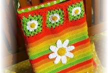 Knitted and sewed purses and bags